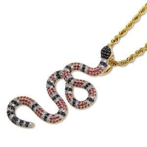 Iced Out Snake Necklace